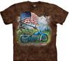 biker americana tie dye t shirt