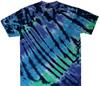 cool nebula tie dye t shirt