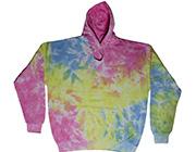 crinkle  tie dye hoodies