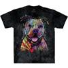 beware of pit bulls tie dye shirt