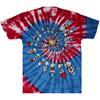 fireworks tie dye t-shirt