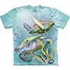 swimming sea turtles tie dye shirt