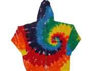 Zipper tie dye hoodies