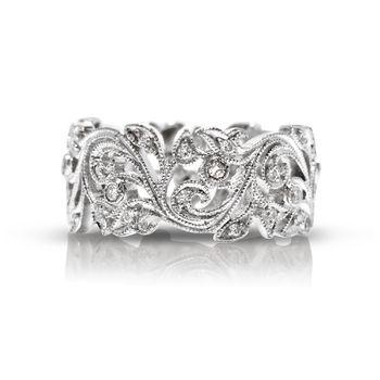 Beverley K White Gold Diamond Vine Ring - Floral Design Diamond Band