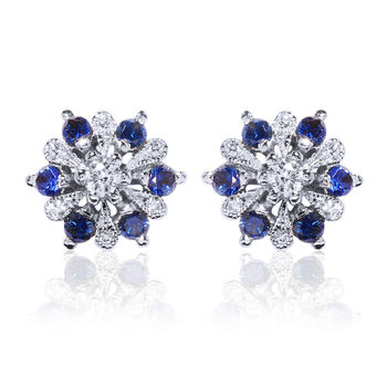 Beverley K Diamond and Sapphire Earrings