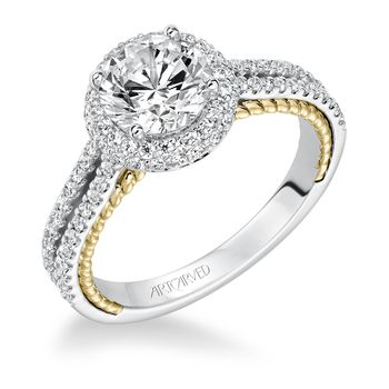 EMMELINE ArtCarved Diamond Engagement Ring - 31-V585-E