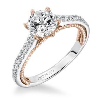 ILENA ArtCarved Engagement Ring - 31-V588-E