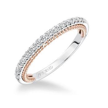 ILENA ArtCarved Diamond Wedding Band - 31-V588-L