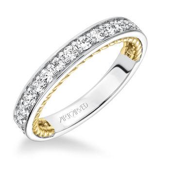 KENZIE ArtCarved Diamond Wedding Band - 31-V590W-L
