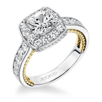 KENZIE ArtCarved Diamond Engagement Ring - 31-V590-E