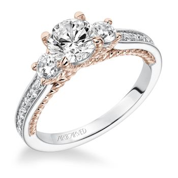 MARLOW ArtCarved Diamond Engagement Ring - 31-V591-E