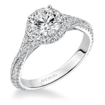 LIANA ArtCarved Diamond Engagement Ring - 31-V592E