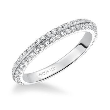LIANA ArtCarved Diamond Wedding Band - 31-V592-L