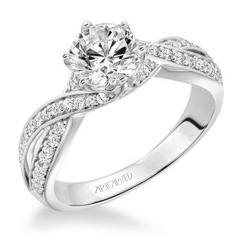 PRESLEY ArtCarved Swirl Engagement Ring - 31-V593-E