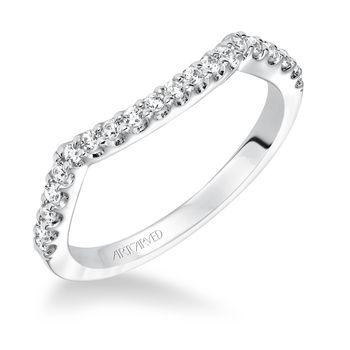 ADEENA ArtCarved Matching Diamond Wedding Band -31-V596-L