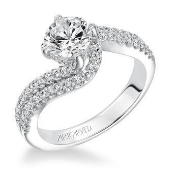 ORLA ArtCarved Swirl Engagement Ring - 31-V597-E