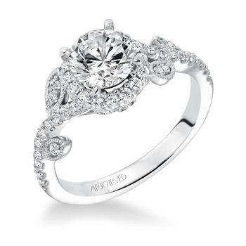THALIA Flower Style Artcarved Engagement Ring - 31-V600-E