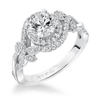 ZARA ArtCarved Diamond Engagement Ring, Flower Style - 31-V601-E