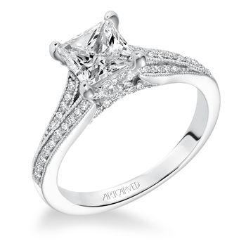 KAYEE ArtCarved Engagement Ring - 31-V604-E