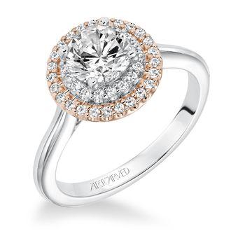 MORGAN ArtCarved Diamond Halo Engagement Ring - 31-V612-E
