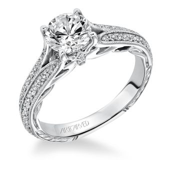 ZELMA ArtCarved Engagement Ring - 31-V620-E