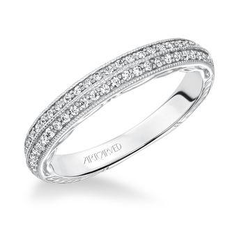 ZELMA Artcarved Diamond Wedding BAnd - 31-V620-L