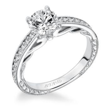 FERM Artcarved Diamond Engagement Ring - 31-V621-E