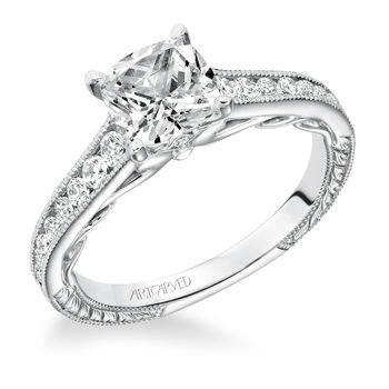 TILDA ArtCarved Diamond Engagement Ring - 31-V622-E