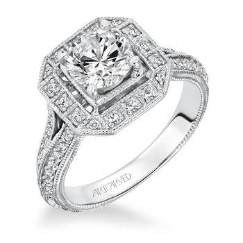 DELPHINE Artcarved Diamond Engagement Ring