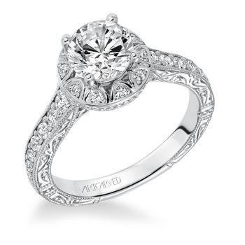 WINSLET Artcarved Diamond Engagement Ring - 31-V637-E