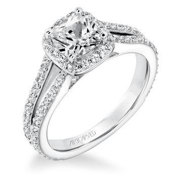 EVANGELINE ArtCarved Diamond Engagement Ring - 31-V646E