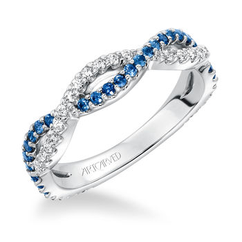 Artcarved Sapphire and Diamond Twisted Band - 33-V914-L