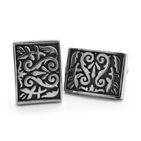 HERITAGE Titanium Rectangular Cufflinks