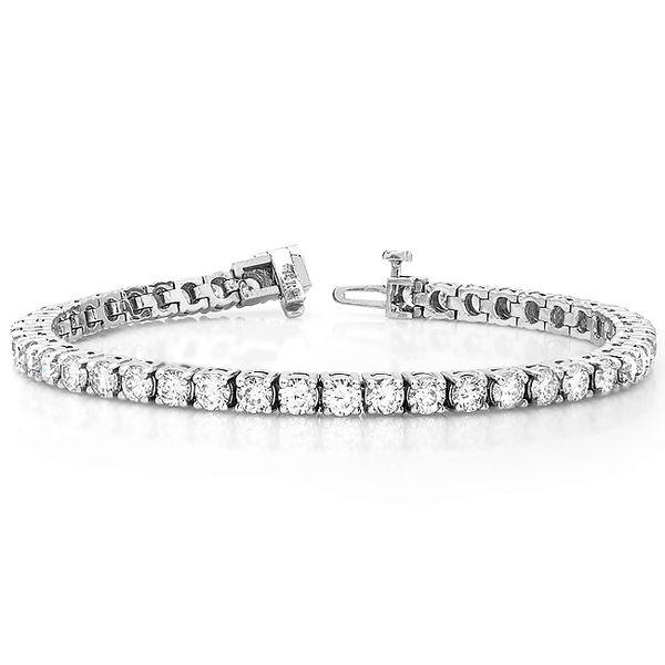 5 Carat Diamond Tennis Bracelet in 14K White Gold - Modesto's Best Diamond Bracelets
