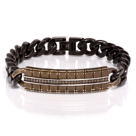 TRITON Bronze & Diamond Bracelet