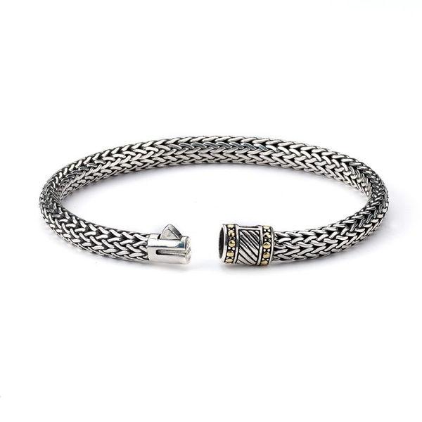 Samuel B. Sterling Silver Mens Link Bracelet - Tulang Naga Link Bracelet