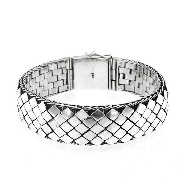 Samuel B. Basket Weave Sterling Silver Men's Bracelet - Award Winning Design!