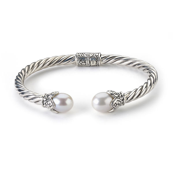 Samuel B. Twisted Cable Bracelet with Pearls