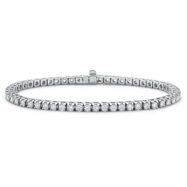 2 carat Diamond Tennis Bracelet - 14K White Gold Diamond Line Bracelet