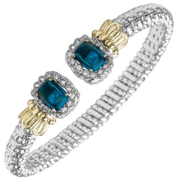 Alwand Vahan Blue Topaz and Diamond Bracelet - Vahan # 22724DLBT06