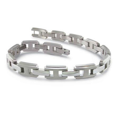 Ladies Titanium Bracelet, H Link - Edward Mirell