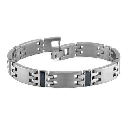 Titanium & Black Titanium 10mm Link Bracelet