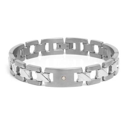 Titanium & Diamond Bracelet
