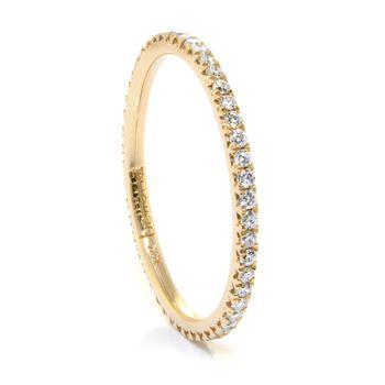 14K Yellow Gold Diamond Eternity Band, 1/3ctw - Perfect thin diamond eternity band from Modesto Jeweler