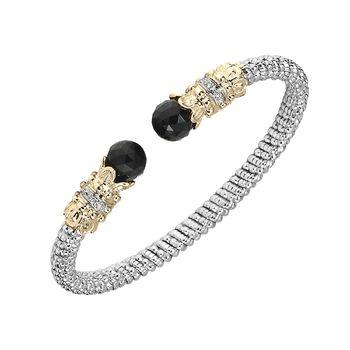 Black Onyx & Diamonds Bracelet by Alwand Vahan - Glamour for your wrist!