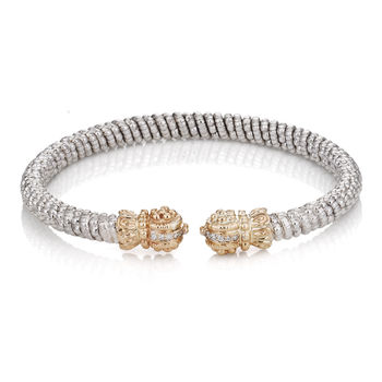 Vahan Sterling, 14K Gold and Diamond Bracelet, style # 21283D