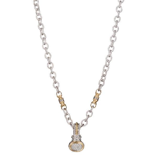 Alwand Vahan Diamond Pave' Neckalcace - Vahan Sterling & Gold Pendant