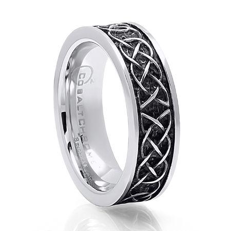 BENCHMARK Celtic Design Cobalt Chrome Ring