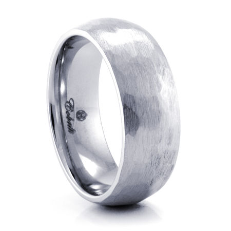HAMMER FINISH Cobalt Chrome Ring by Heavy Stone Rings