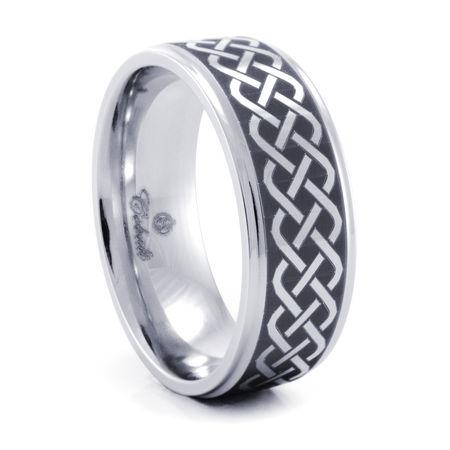 CELTIC Cobalt Chrome Ring by Heavy Stone Rings